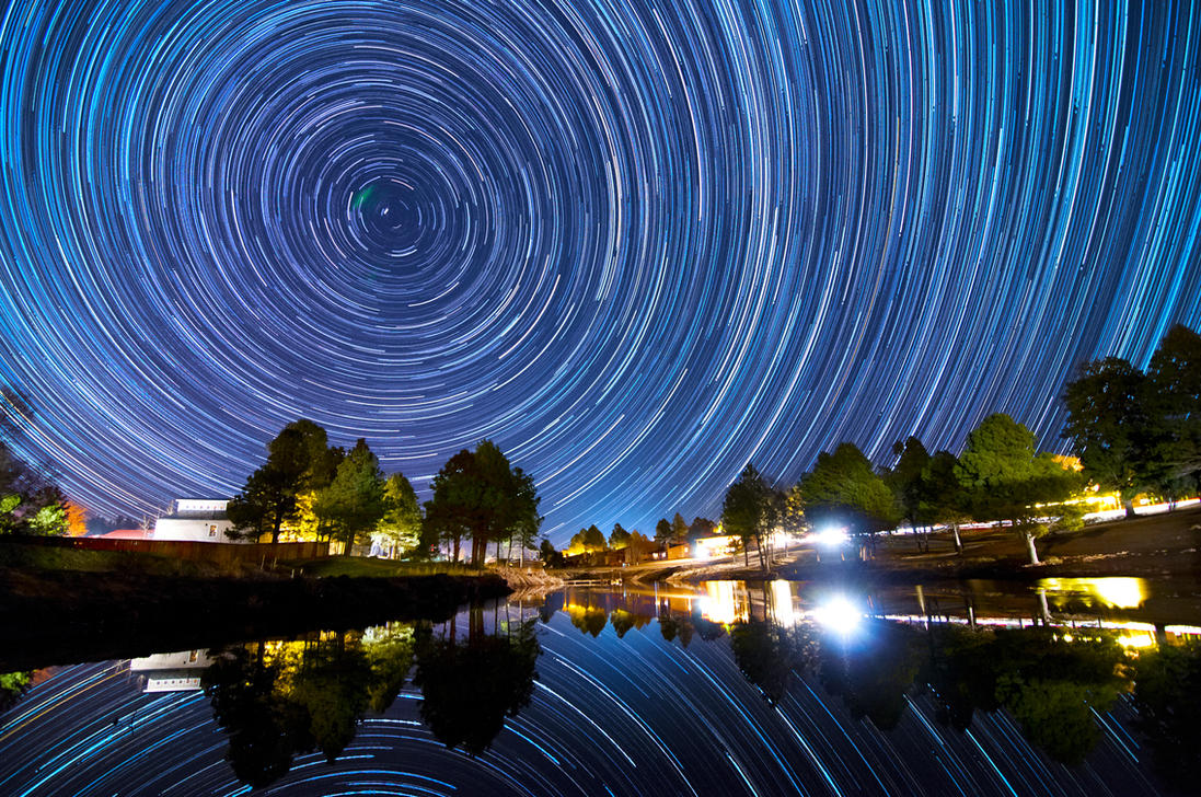Star Trail Lake by k-n-8