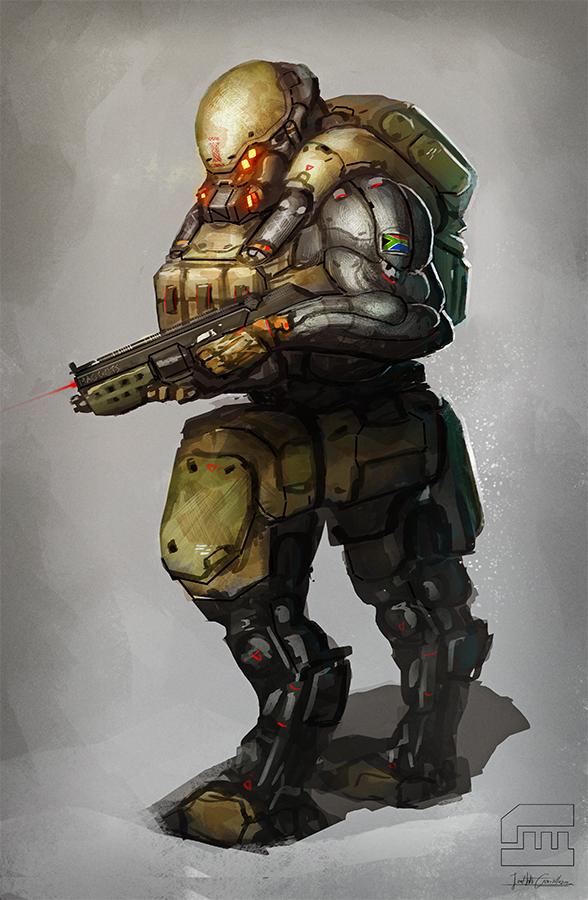 Soldier sketch by BrotherOstavia