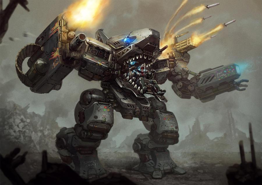 Megalodon Mech by BrotherOstavia