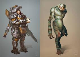 Scifi Sketches by BrotherOstavia