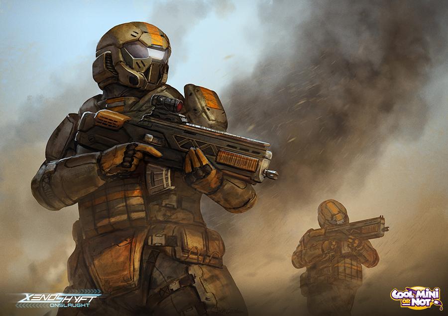 Stock Illustrations of Sci-Fi Jungle Ranger - 2 - Futuristic ...