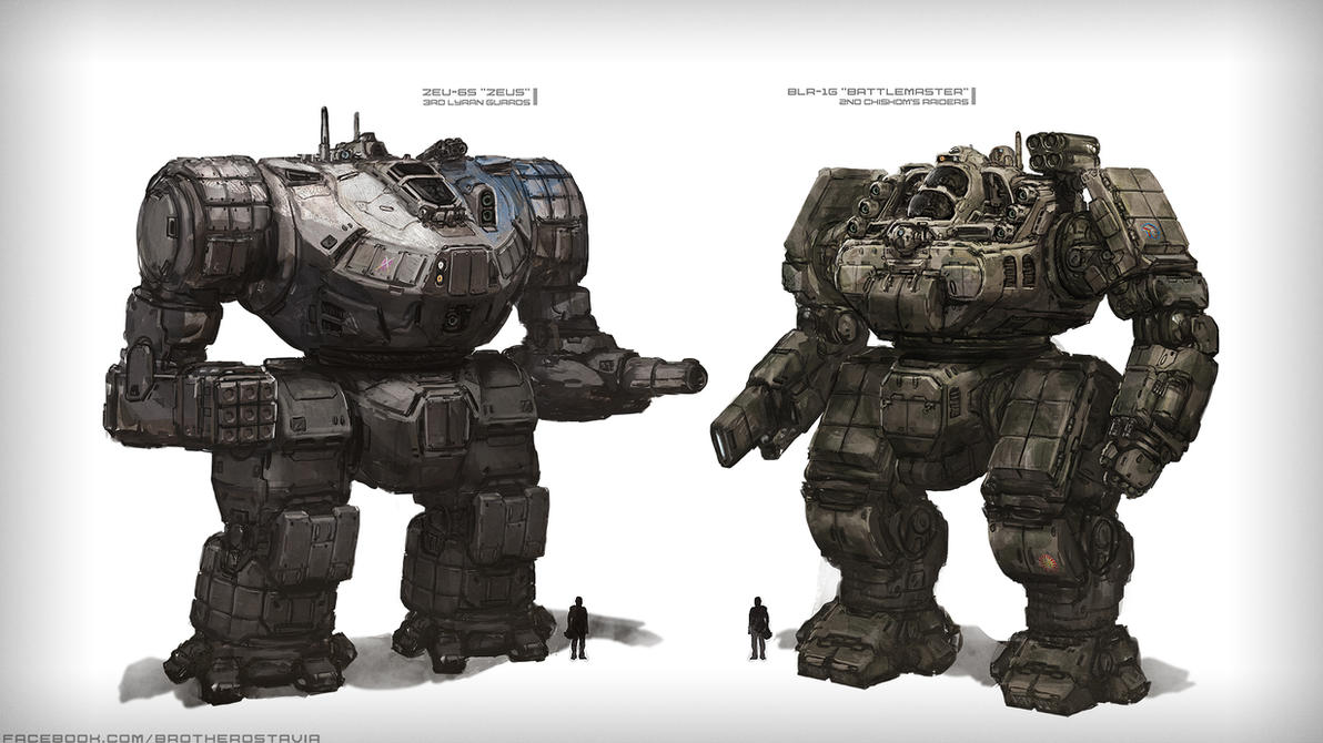 Zeus and Battlemaster by BrotherOstavia