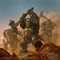 Warmachine - Horgenhold Forge Guard by BrotherOstavia