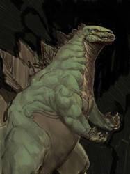 Godzilla sketch by BrotherOstavia