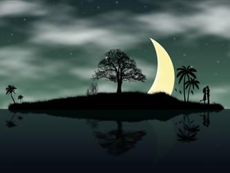 ' Romantic Starry Night ' by parveenemi