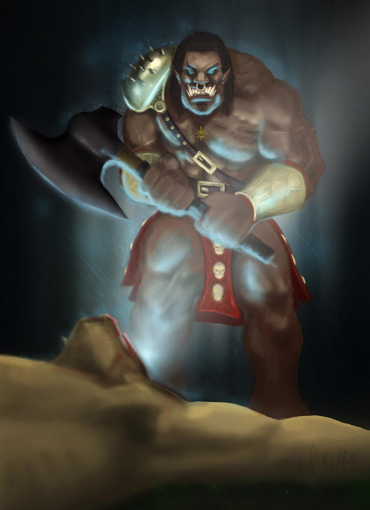An Ogre from our comic The Dunharrow Scrolls by Stevie-C