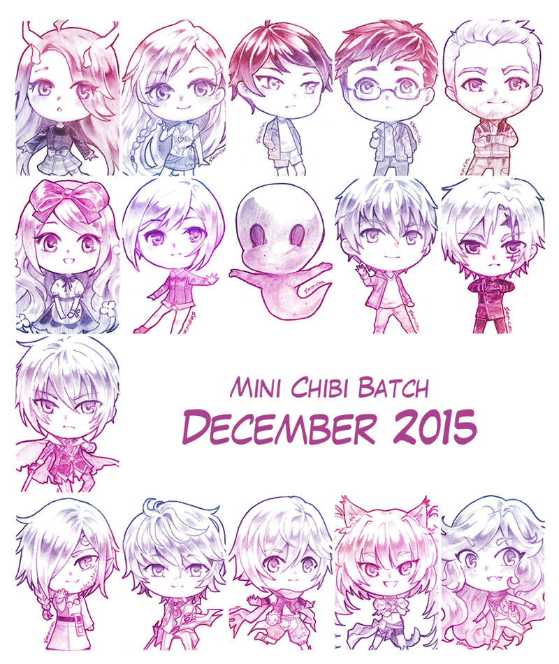 C - Mini Chibi December 2015 by Siripikan