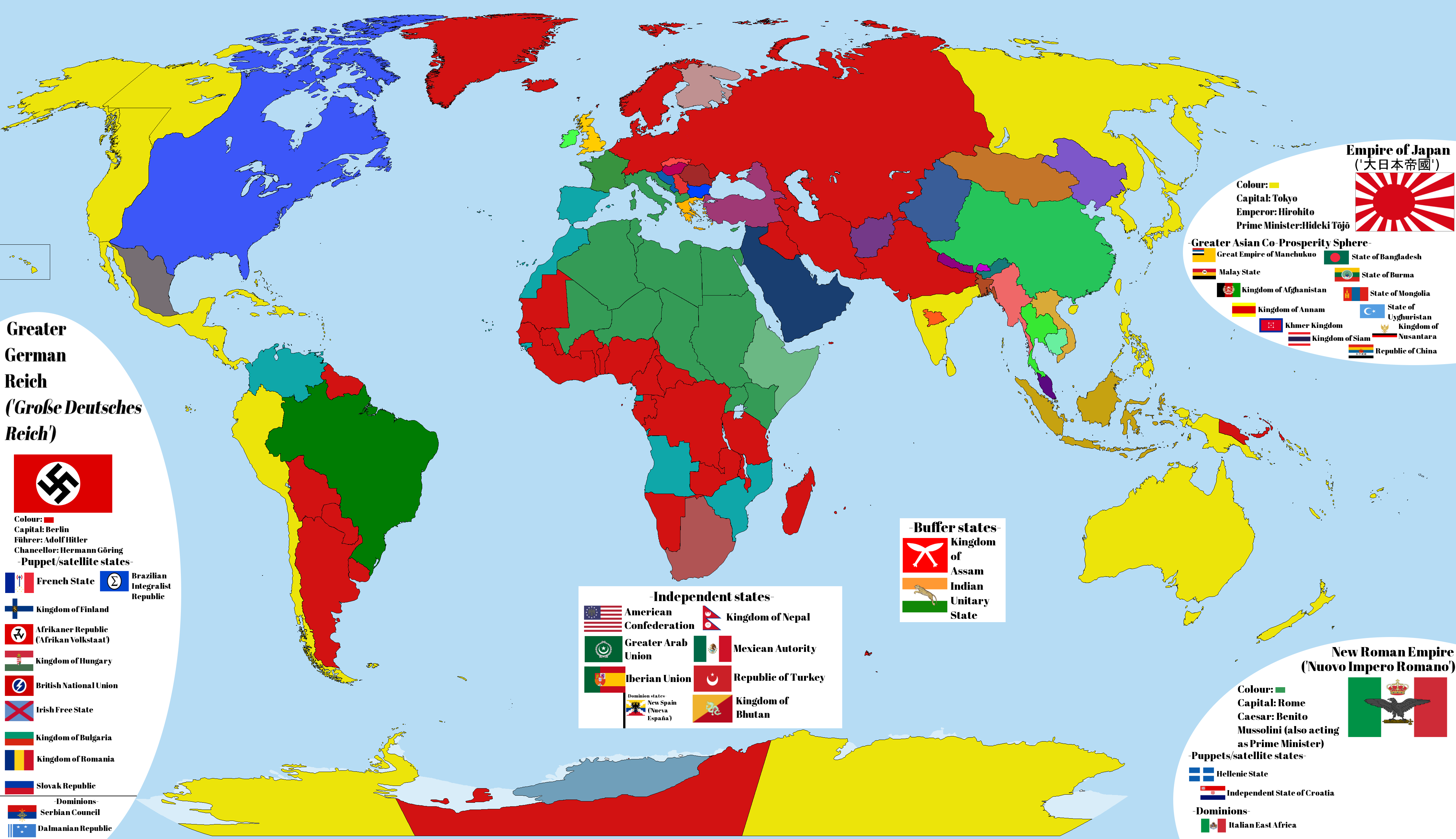 After The Fall Axis Victory In World War II By Readyus On DeviantArt - Germany map after ww2