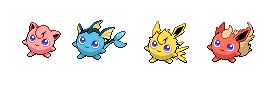 Pkemon Jigglypuff recolor/fusions by J0exv
