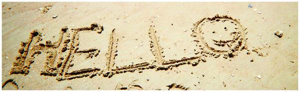 Sand Greeting by RockBot1811