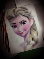 Elsa From Frozen by CliffaxBeron