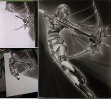 Serah Faron of Final Fantasy by CliffaxBeron