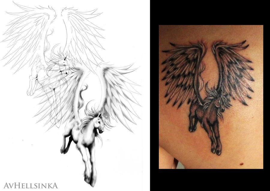 Pegasus Tattoo By Anitramynnej On Deviantart
