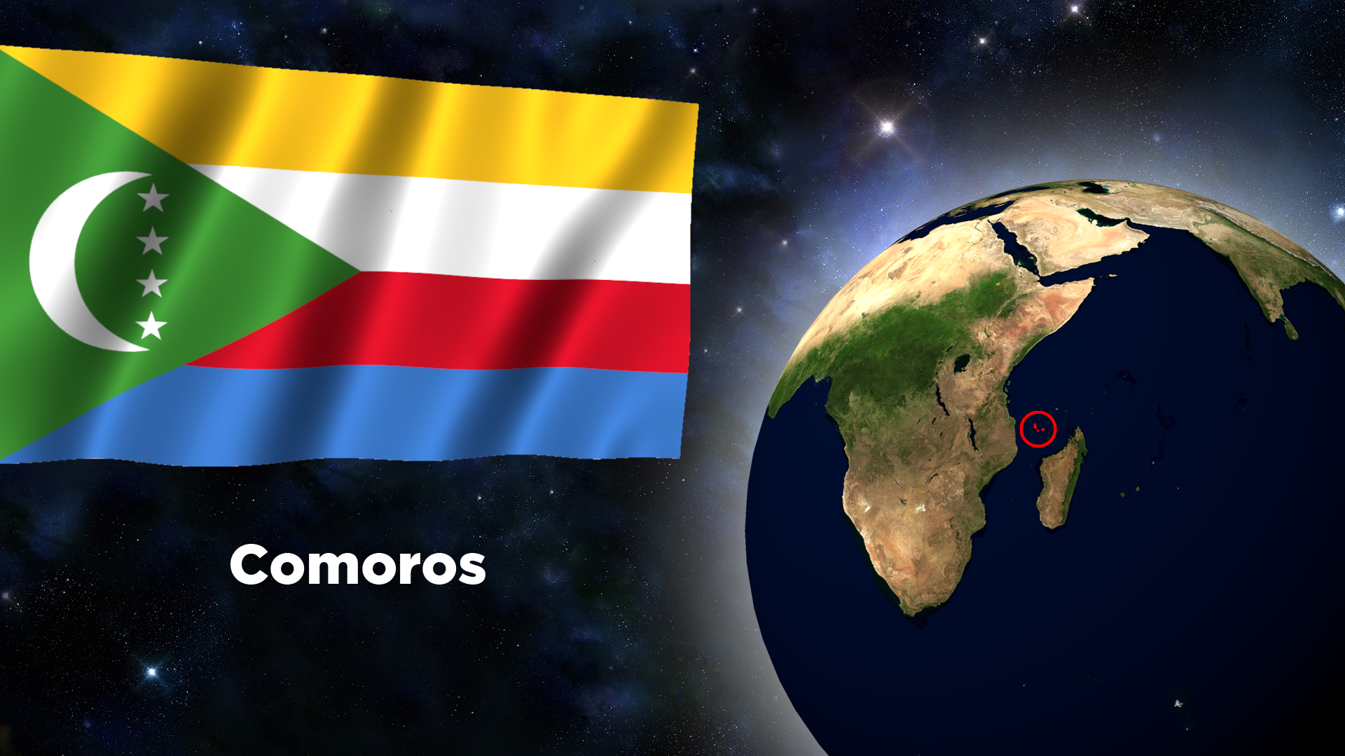 Flag Wallpaper - Comoros by darellnonis