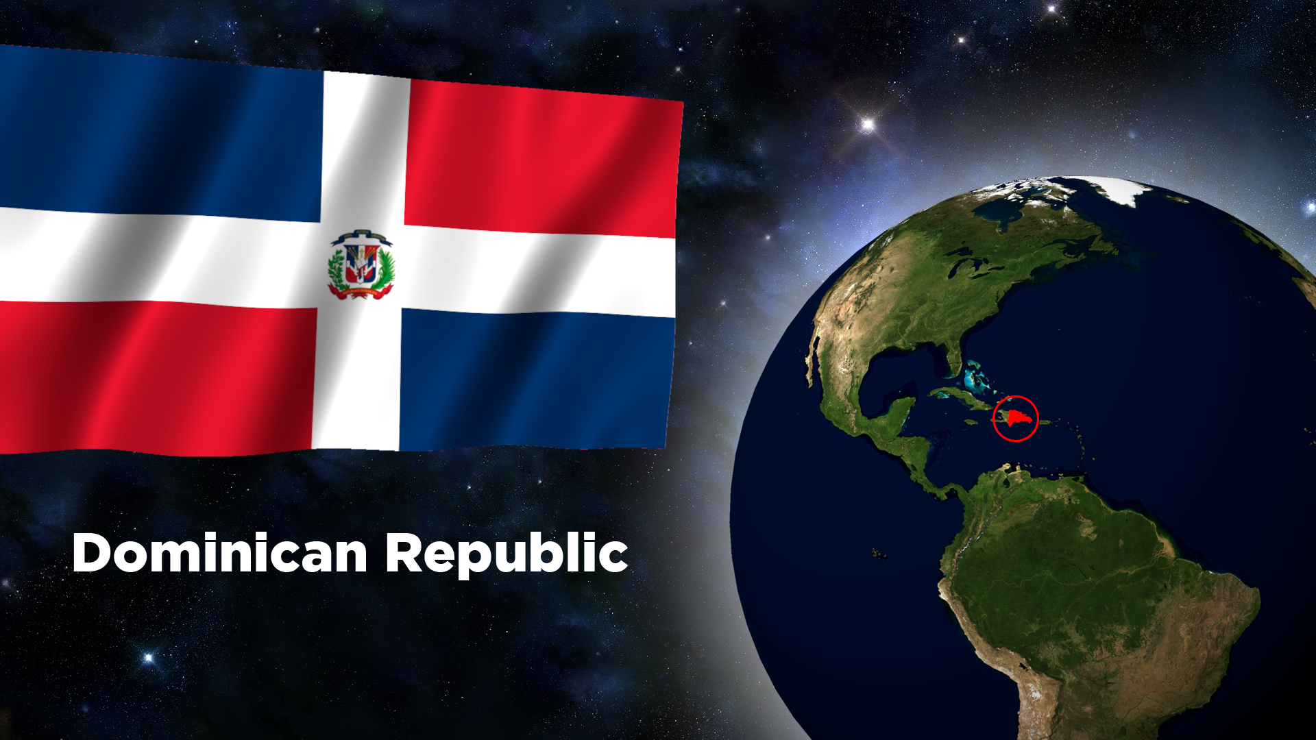 Flag Wallpaper - Dominican Republic by