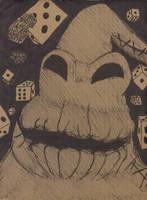 Oogie Boogie Poker Face by locopsychodude