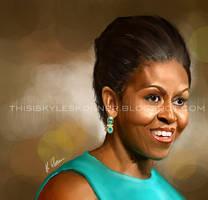 Michelle Obama by illEskoBar