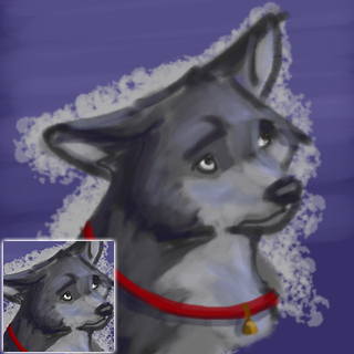 Generic Wolf Icon by silverspitfire