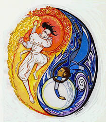 Duel of the Sun and Moon by Isaia
