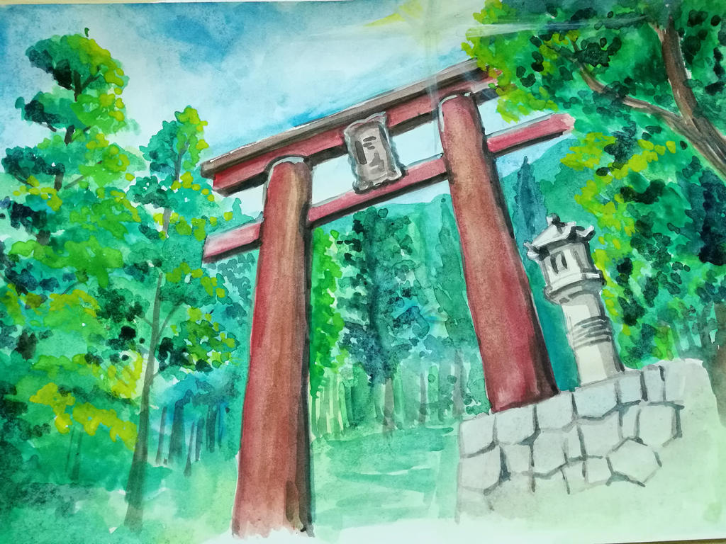 Kimi no Na Wa - Gate by mafer-seow-wayn