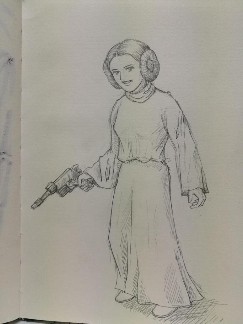 Princess Leia by mafer-seow-wayn