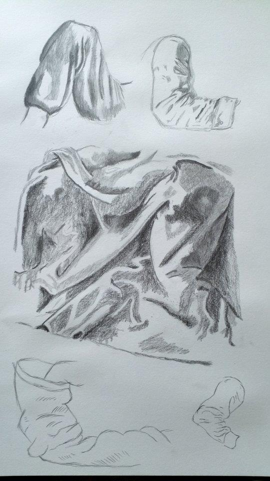 Wrinkles and folds practice by PaulDS89