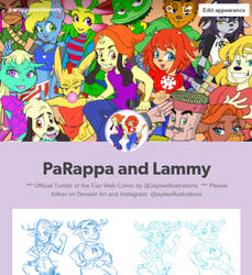 Parappa and Lammy have a TUMBLR