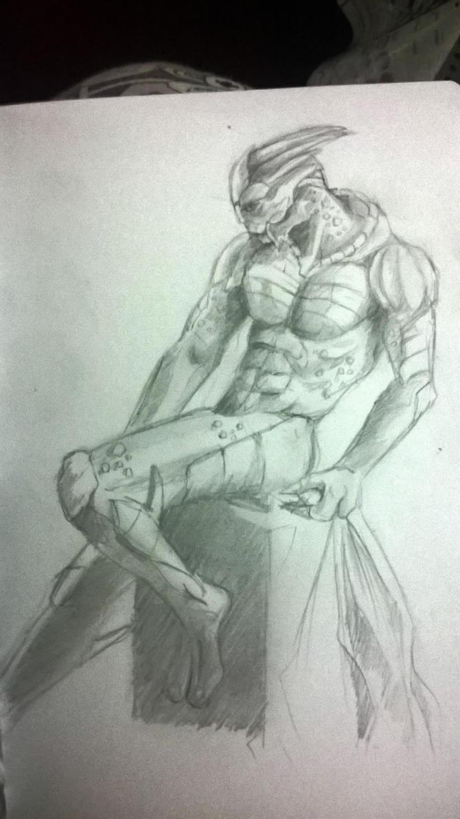 Quick draw Garrus by Monifabi
