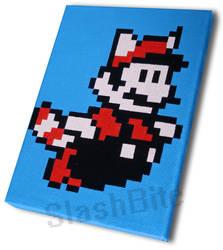 Flying Mario Pixel Painting