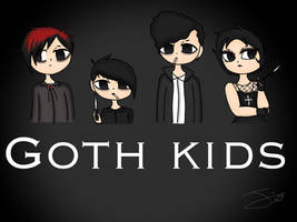 Goth kids / South Park (old digital art) by therealkizzy