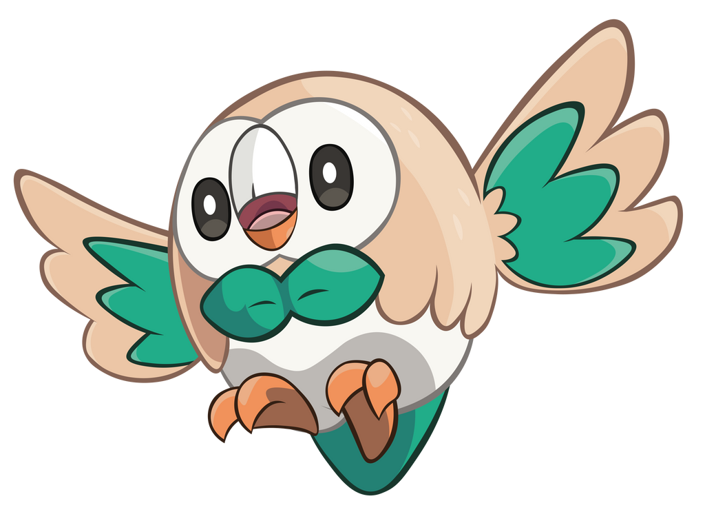 Pokemon Rowlet By Dragonm97hd On Deviantart