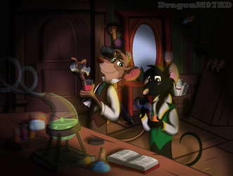 Basil and Artie (Birthday gift) by DragonM97HD