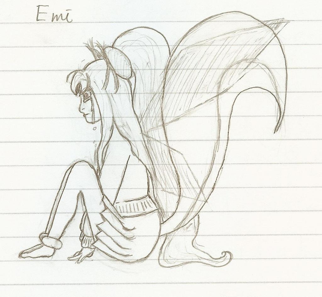 Single Line Character Art : Character sketch emi line art by kazenoshun on deviantart