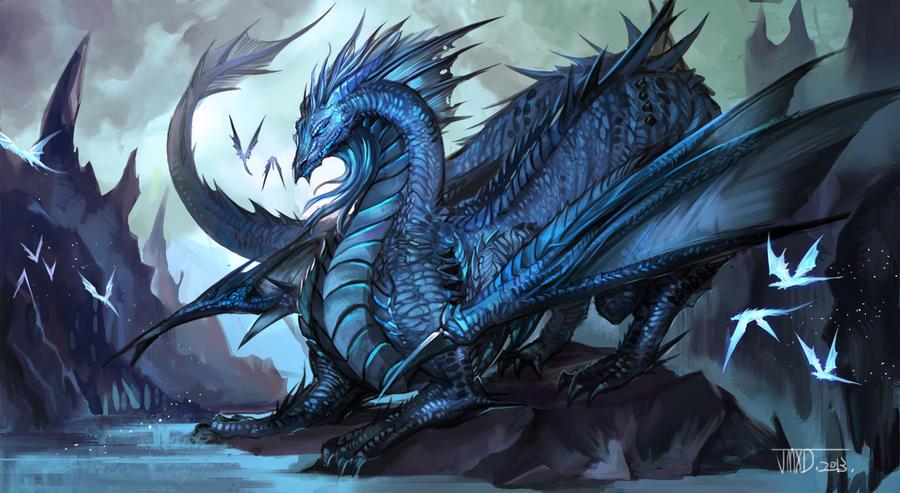 Blue Dragon by JMXD on DeviantArt