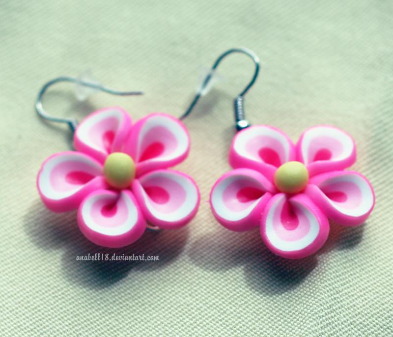 Kolczyki .pink flowers. by anabell18