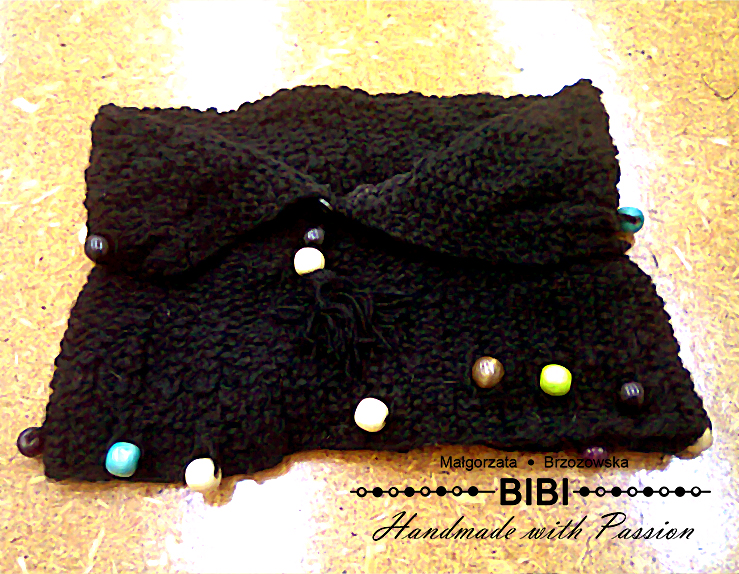 Knitted Scarf With Wooden Beads By Anabell18 On Deviantart