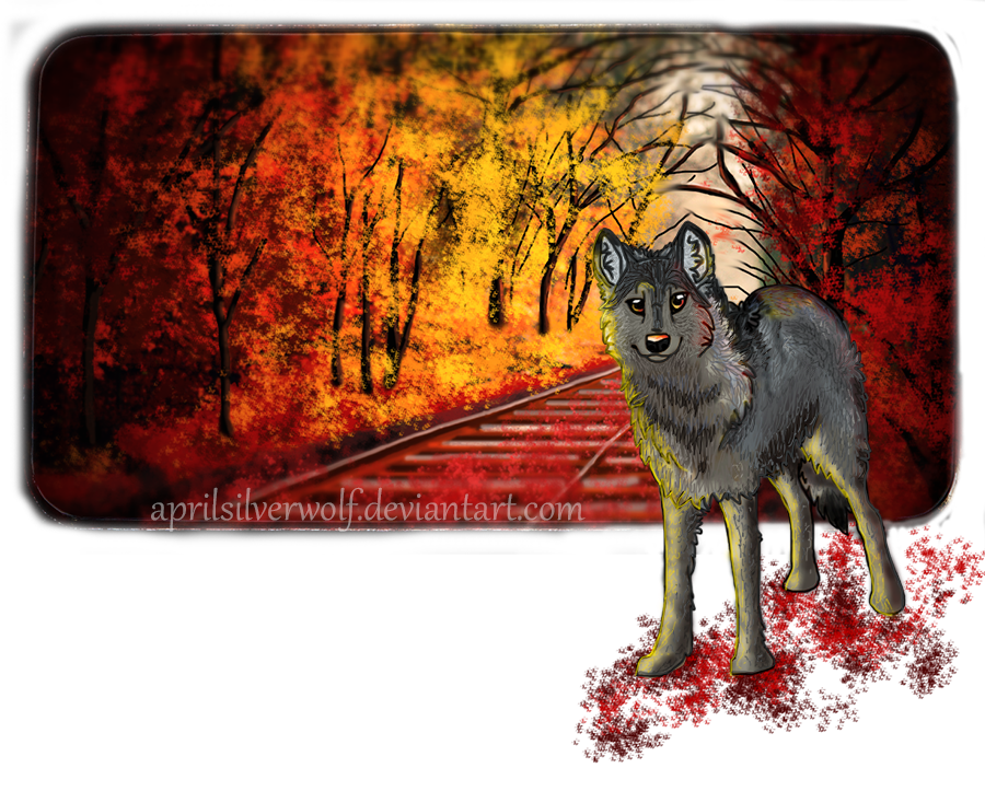 Autumn Wolf (Small Version) by AprilSilverWolf