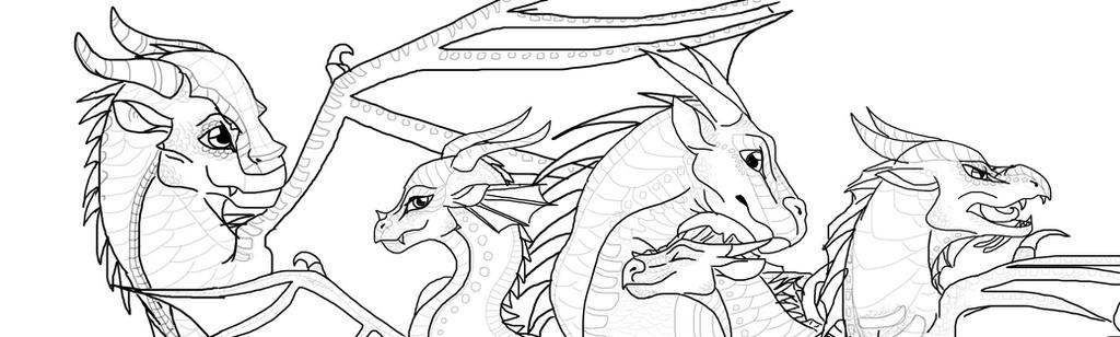 The Dragonets of Destiny Outline by AprilSilverWolf