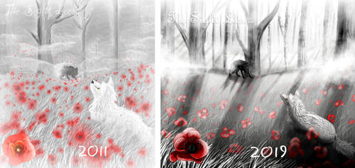 Draw This Again: Meadow of Poppies by AprilSilverWolf