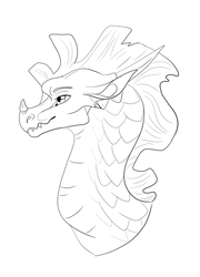 Sandwing Headshot Lineart