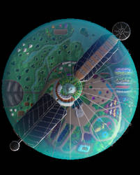 The Astrolabe Space Station Top Down