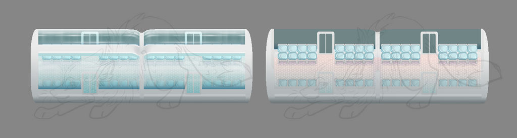 Pixel Passenger Train Car