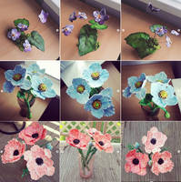 Clay Flower Collage