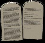 Ten Commandments PNG