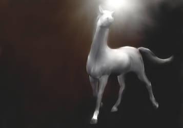 New Stock!  White horse painting unicorn