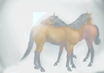 New Stock!  Horse Love Painting Light