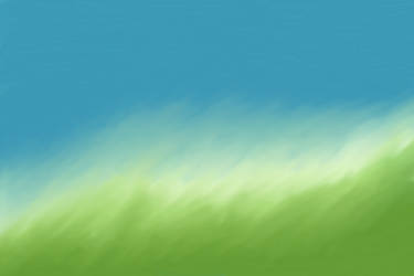 Painted Background Blue Green