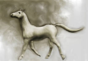 New Stock!  Painted White Horse