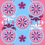 girly pinks and blues whimsy