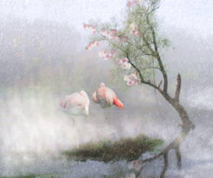 Flamingo Lagoon Love by madetobeunique